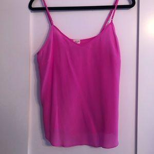 Aritzia Hot Pink Silk Camisole!